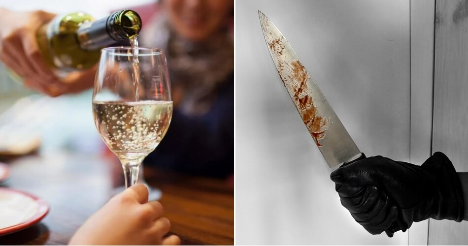 Man Slashes Roommate With Knife For Not Drinking More Wine With Him - WORLD OF BUZZ