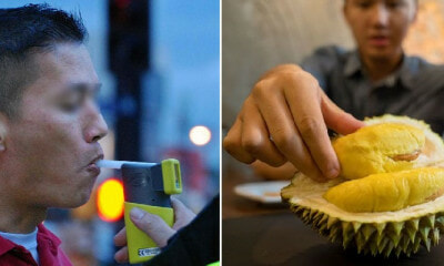 Man Suspected Of Drunk Driving After Failing Breathalyser, Turns Out He Was Just Eating Durian - WORLD OF BUZZ 5