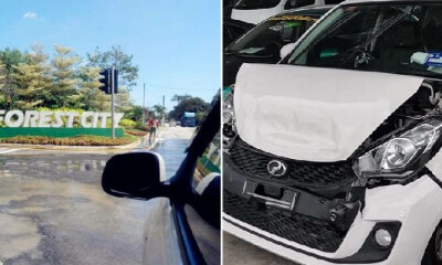 M'sian Girl Purposely Crashes Car to Seek Help After Foreign Worker in Vehicle Molests Her - WORLD OF BUZZ 3