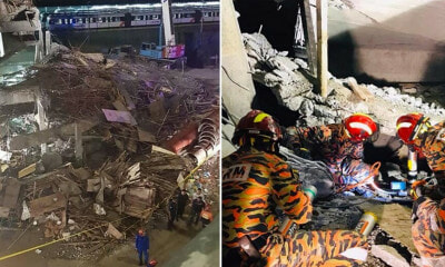 Multilevel Carpark at Gombak LRT Station Collapses, 2 Injured & 1 Still Trapped in Rubble - WORLD OF BUZZ