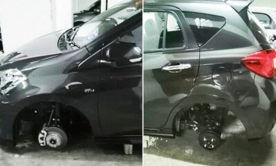 Myvi Tyres Now Targeted By Thieves In Penang For Their Resale Value, Drivers Urged To Be Careful - WORLD OF BUZZ