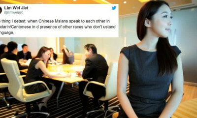 Netizen Says Chinese M'sians Shouldn't Speak Mother Tongue in Front of Other Races - WORLD OF BUZZ