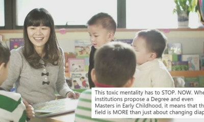 Netizen Slams Comment That Early Childhood Education Is Just About Changing Diapers - World Of Buzz 6
