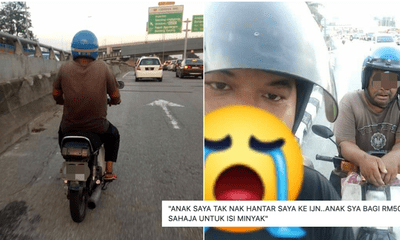 Old Pakcik With Heart Problems Rides Motorbike From Kuantan To IJN After Kid Refused To Send Him - WORLD OF BUZZ 1