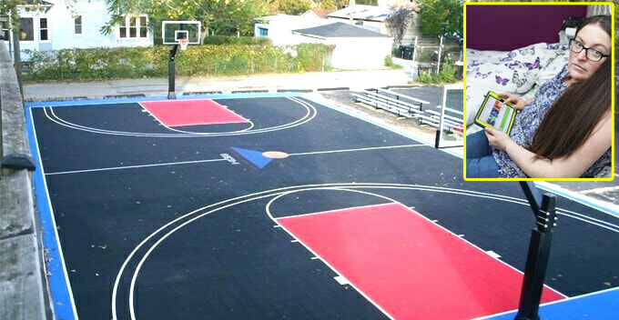 Sleepwalking Woman Buys Random Items Online, Including a Full-Sized Basketball Court - WORLD OF BUZZ