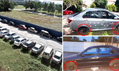 Public Warned Against Car Tyre Thieves Running Rampant In Subang - WORLD OF BUZZ