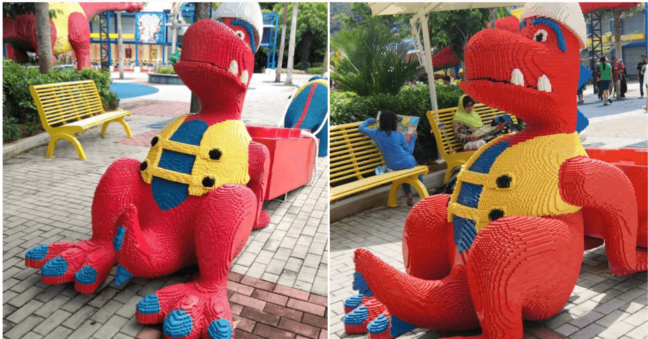 T-rex Statue Allegedly Located in Legoland Malaysia Goes Viral For Its Interesting Pose - WORLD OF BUZZ 5