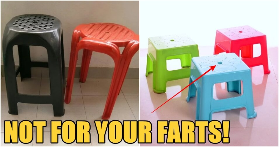 The Hole in Your Plastic Stool Is Not for You to Fart Through! They Have 3 Important Purposes - WORLD OF BUZZ