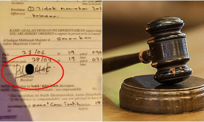 This Man Got Fined RM8,000 After He Wrote a Certain Bad Word on His Saman - WORLD OF BUZZ