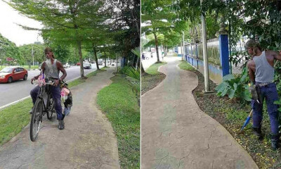 This Man Loves Taiping So Much, He'd Rather Clean the Streets For Free Than Find a Job - WORLD OF BUZZ 4