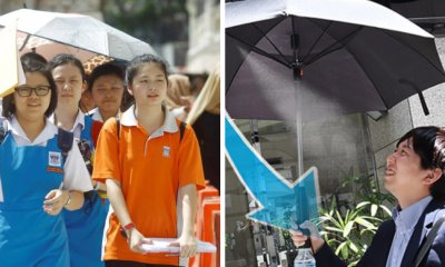 This New Umbrella Has A Fan and Mist Sprays To Help You Beat The Heat - WORLD OF BUZZ