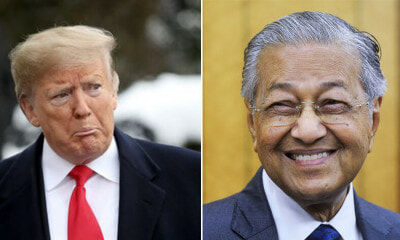 Dr Mahathir Says He Does Not Think He is a Worse Leader Than Donald Trump - WORLD OF BUZZ