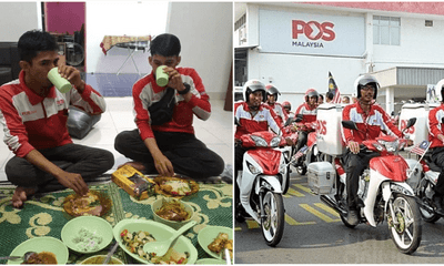 Viral Photo Shows The Reality Of Hardworking Abang Postmen Who Didn't Have Time To Berbuka At Home - WORLD OF BUZZ 3