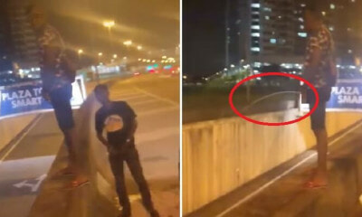 Watch: Laughing Youths Standing Near SMART Tunnel Entrance & Peeing on Passing Cars, Netizens Outraged - WORLD OF BUZZ 1
