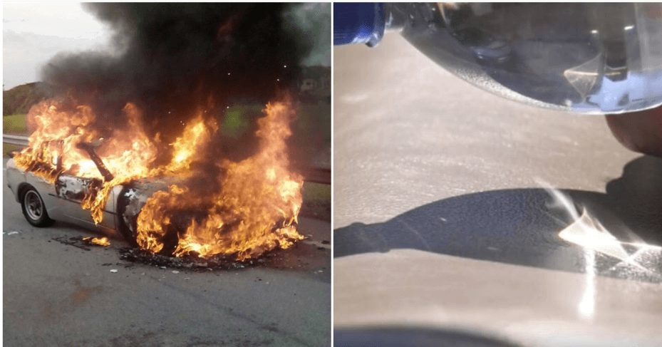 Water Bottle Inside The Car During A Hot Day Can Set Your Car On Fire - WORLD OF BUZZ 3
