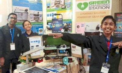 These Three 14yo Boys Invented a Green Charging Station Within 2 m - WORLD OF BUZZ