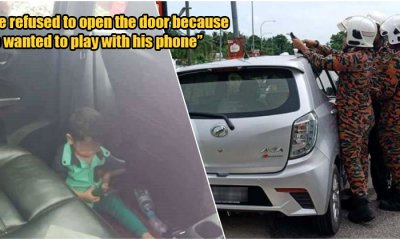 Abang Bomba Breaks Into Car After Child Purposely Locked Mom Out Because He Wanted to Play on Phone - WORLD OF BUZZ