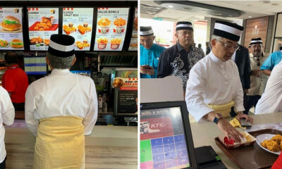 Agong Spotted Waiting in Line & Ordering at KFC Outlet in Pahang - WORLD OF BUZZ 1