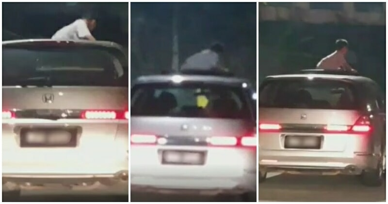 Child Filmed Riding On Car Roof! Parents Adamant That It Was The Child Who Wanted It - World Of Buzz