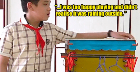 Chinese Man Invented A Upside Down Hair Washing Machine - World Of Buzz 1