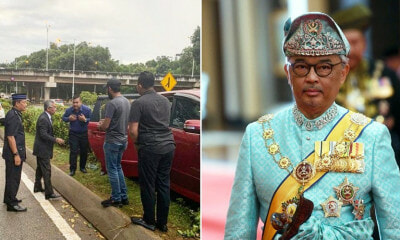 Agong Wins Netizens' Hearts By Going Out Of His Way To Help An Accident Victim in Putrajaya - WORLD OF BUZZ