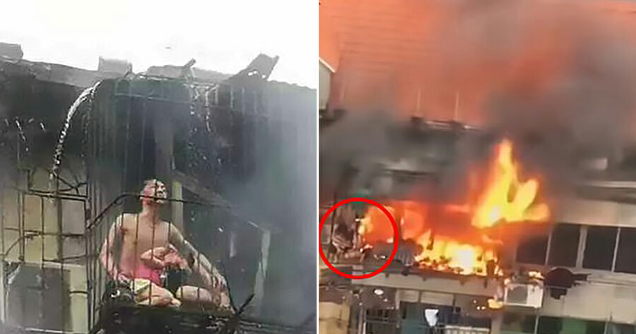Mother & Father Sacrifice Their Lives By Using Their Bodies to Shield Daughter From House Fire - WORLD OF BUZZ