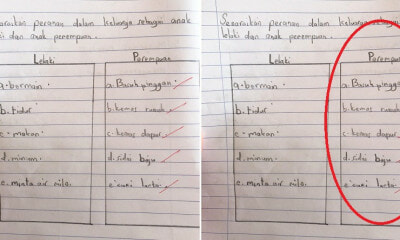 Little M'sian Girl's Homework Answers Raise Concerns Over Outdated Gender Roles At Home - WORLD OF BUZZ