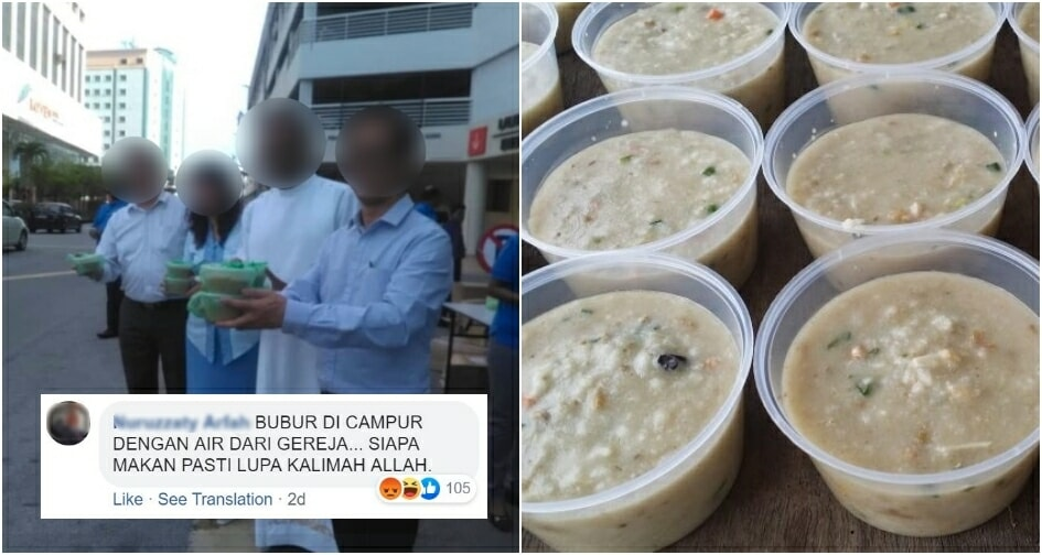 Malacca Priest Gives Out Free Bubur Lambuk To Muslims But Gets Condemned Online - World Of Buzz
