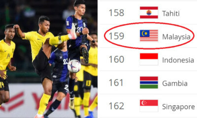 Malaysia Nutmegs Indonesia & Singapore After Placing 159th in FIFA World Football Rankings - WORLD OF BUZZ