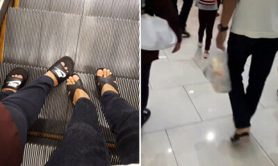Malaysian Man Goes Viral For Wearing His Mother's Heels While Shopping Because Her Feet Were Painful - WORLD OF BUZZ
