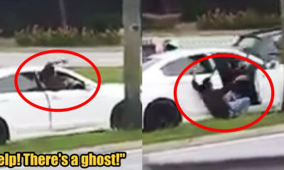 Man Flails His Arms Running and Asking For Help Because There's A Ghost In His Car - WORLD OF BUZZ 1