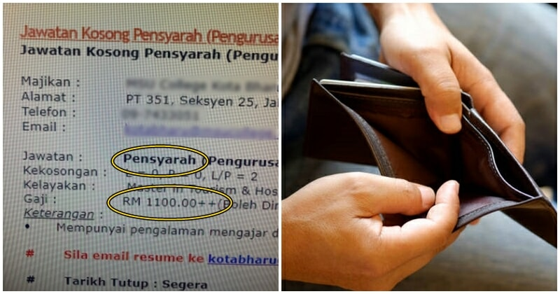 Manager-level Job Requiring Master's Degree Only Pays RM1100 in Kelantan, Netizen Complaints - WORLD OF BUZZ