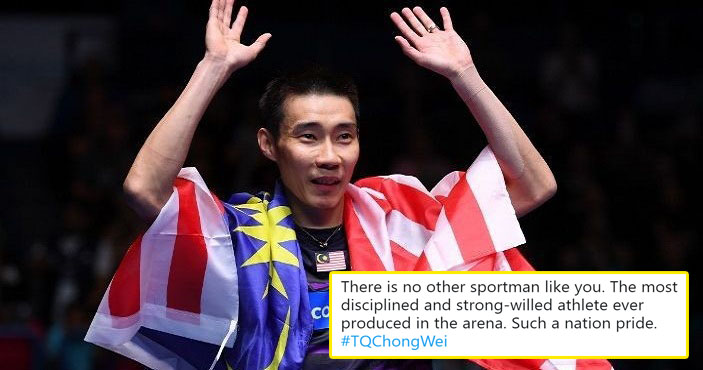 M'sians Are Paying Tribute To Lee Chong Wei With #tqchongwei After His Retirement Was Announced - World Of Buzz 1