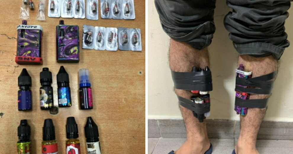 M'Sians Caught At Woodlands Checkpoint Trying To Smuggle Vapes Into Singapore By Taping Them To Their Legs - World Of Buzz 2