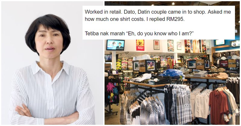 Netizen Shares Experience Dealing With Snobbish Dato Datin Couple Buying Shirts - WORLD OF BUZZ 5