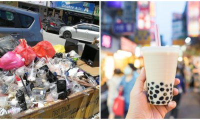 Netizens Concerned Over SS15 Bubble Tea Street Plastic Waste Problem, Voiced Out Potential Solutions - WORLD OF BUZZ