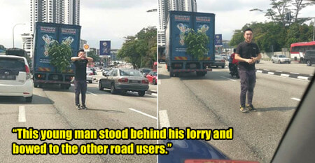 Pakcik Entertains Road Users With A Karaoke Session In The Traffic Jam - WORLD OF BUZZ
