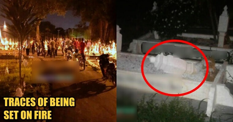 Residents And Netizens Enraged That Melaka Islamic Cemetery Was Vandalised And Set On Fire - World Of Buzz 1