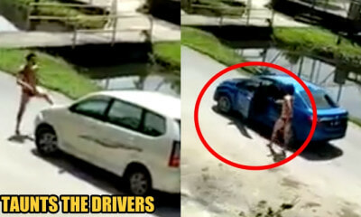 Sibu Man Wears Only Underwear, Roams On The Street and Whacks Cars with Bare Hands - WORLD OF BUZZ 3