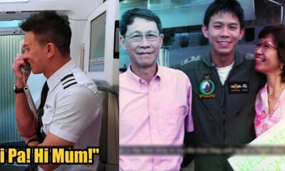 Singapore Pilot Arranges Flight to Surprise Parents Who Are On Board - WORLD OF BUZZ 6