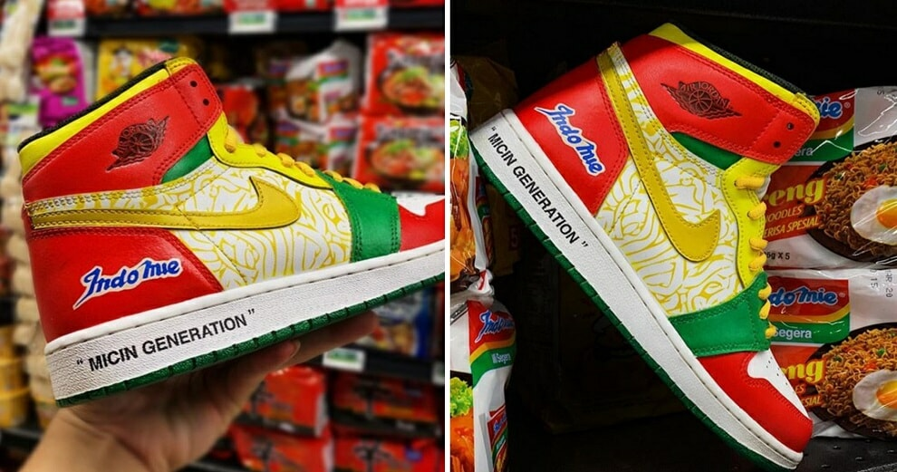 Someone Made Custom Indomie X Nike Air Jordans & We Don't Know What To Think - World Of Buzz 1