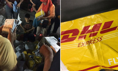 Unclaimed Delivery Parcels from DHL Seen Being Sold at Ramadan Bazaar for RM15 Each - WORLD OF BUZZ
