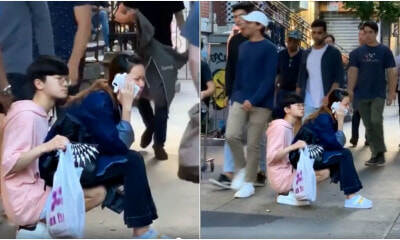 Viral Video Of Couple At The Sidewalk Proves People Can Do Stupid Things For Love - WORLD OF BUZZ