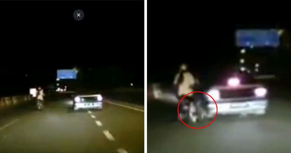 Watch: Shocking Footage Caught Proton Saga Ramming Motorcycle With Pregnant Lady Rider In Puchong - World Of Buzz