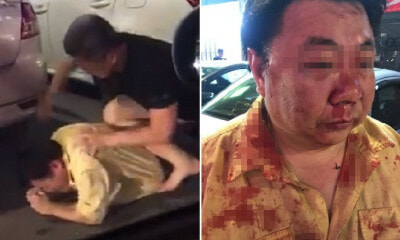 Watch: Two Men Get Into Brutal Fight at Cheras C180 Allegedly Due to Road Accident - WORLD OF BUZZ 3