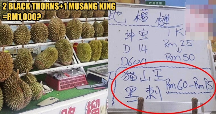 Woman Charged Rm1,000 For Her Durian Feast In Penang, Complains Of Being Ripped Off - World Of Buzz 1