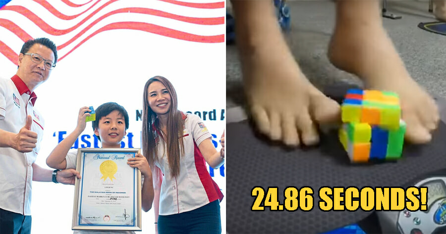 11Yo M'sian Boy Is The 2Nd Fastest In The World For Solving A Rubik's Cube Using Only His Feet! - World Of Buzz