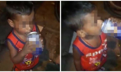2yo Johor Boy Drinks Alcohol But Mother Says He Did It On His Own, Police Get Involved - WORLD OF BUZZ 3