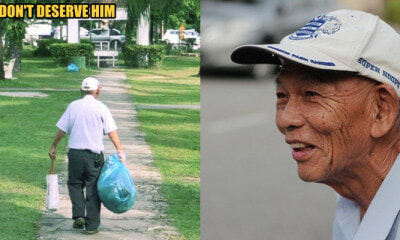 84yo Man Picks Up Trash to Keep Puchong Park Clean Since 2014 - WORLD OF BUZZ 4
