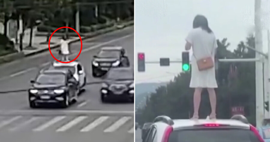 Woman Climbs to the Roof & Stomps On It After Husband Ignored Her During Argument - WORLD OF BUZZ
